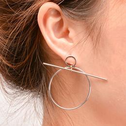 Vintage Copper Hoop Earrings Canada - 2018 Vintage European Simple Style Aros Big Round Circle Hoop Earrings for Women Geometric Ear Hoops Earing Brincos Gift XR163