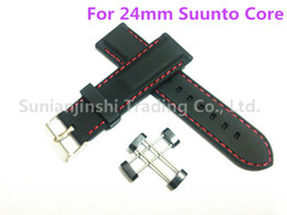 $enCountryForm.capitalKeyWord NZ - Hot Sale Suunto Core 24mm Black+Red Line Watch Band Strap Soft Waterproof Rubber Silicone With Lugs+Adapters Free Shipping DHL - 008