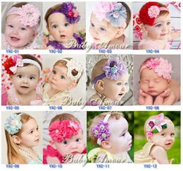 $enCountryForm.capitalKeyWord NZ - 12 styles baby flower Bouquet Girl's Hair Headbands Bow Headband hair band girl head wrap Elastic Headband Kids Hair Jewelry cheap