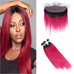 Red blonde ombre extensions online red blonde ombre extensions 1b 99j wine red hair 134 ear to ear lace frontal with rose red brazilian virgin human hair 3bundles hair extensions 4pcs lot pmusecretfo Choice Image