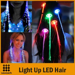 Discount kids hair extensions 2017 hair extensions for kids on luminous light up led hair extension flash braid party girl hair glow by fiber optic for party christmas halloween night lights 5 colors kids hair pmusecretfo Gallery
