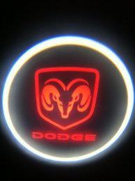 Project Light Car NZ - Ghost Shadow Cree Led Car Door Logo Led Laser Welcome Project Light For Fang Model and Red DODGE #2 2th
