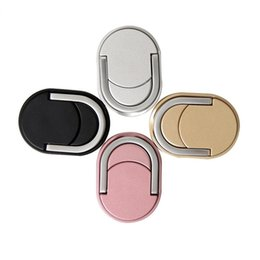 metal phone holders 2019 - Universal Metal Phone Ring Holder 360 Degree Rotating Cellphone Magnetic Stand Holder for Samsung S8 iphone 8 7 6S plus