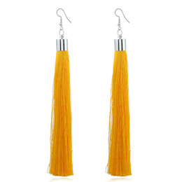 China BBoho Style Vintage Handmade Ethnic Chinese Fringes Dangle Long Silk Tassel Earrings for Women and Girls suppliers