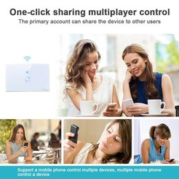 timer panel 2019 - Sonoff Wifi Touch Wall Switch Wifi LED Touch Timer Switch Glass Panel Controller Light Switch Remote Control By APP US E