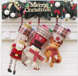 $enCountryForm.capitalKeyWord NZ - 2017 Christmas Stockings Santa Christmas Stocking Christmas Decoration Wedding Candy Socks Bags Large Size Xmas Boots Stocking For Children