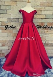 Dark Red Prom Dresses Ball Gown Cheap Sexy V-Neck Lace Up Backless Belt 2016 Vintage Party Evening Gowns Red Carpet Formal Dresses from short sleeve evening gowns manufacturers