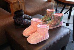 Embroidered Snow Boots NZ - Us size:10-2.5 Children's Boots Snow Boots High Baby Shoes Boys&Girls To Help In The Children Snow Boots