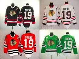 $enCountryForm.capitalKeyWord Australia - Cheap authentic Menss Wholesale Chicago Blackhawks 19 Jonathan Toews Jersey Black White Green RED Neck Vintage on-Sewn Hockey Jerseys