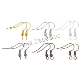 $enCountryForm.capitalKeyWord Canada - Fish Dangle Metal Iron Earring Clasps Hooks Lever Back Earring Wires Fittings DIY for female gifts Jewelry Findings Accessories