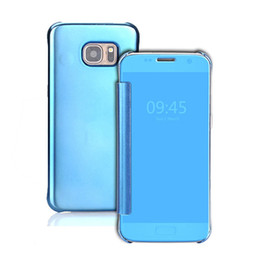 View Window Case Australia - Electroplated Smart Mirror cases For Samsung Galaxy Note 8 note8 Protector Shell View Window Clear PC electroplated Case Filp Cover