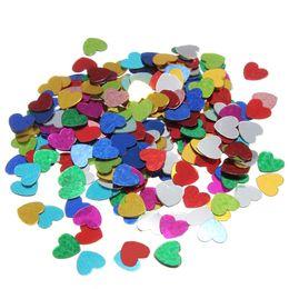 Pack Supplies Canada - High quality 200 pcs  pack Romance Sparkle Multi-Color Love Heart Wedding Party Confetti Table Decoration Decorative Supplies