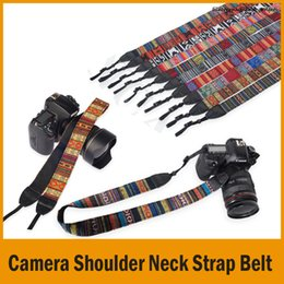 Camera Shoulder Strap NZ - Colorful Vintage Style Canvas Camera Shoulder Neck Strap Belt for Nikon Canon Sony DSLR Camera Free Shipping