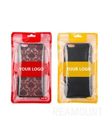 Custom pC Cases online shopping - 200 Custom Packaging for Cell Phone Case for iPhone Retail Plastic Zip Bags for iPhone Plus X Case