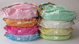 $enCountryForm.capitalKeyWord NZ - Free Shipping 2015 NEW Design 50 pcs Organic 100% Bamboo Cotton Velour baby Cloth diapers Nappy No PUL with 50 inserts