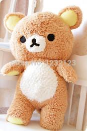 Cute Brown Bear Canada - New brown San-x Rilakkuma Relax Bear Cute Soft 50cm plush toy free shipping