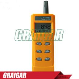 TemperaTure moniTor alarm online shopping - AZ7752 carbon dioxide gas concentration detector CO2 detector alarm air quality monitor with temperature measurement meter