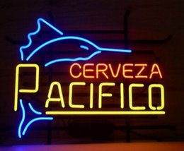 f654a6f0799 Hand signs online shopping - Pacifico Cerveza Fish Neon Sign Custom Hand  crafted Real Glass Tube