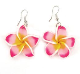 $enCountryForm.capitalKeyWord Canada - Cheapest Fimo Frangipani Flower Drop Earrings,Fimo Polymer Clay Flower Fashion Earrings, Plastic Flower Jewelry
