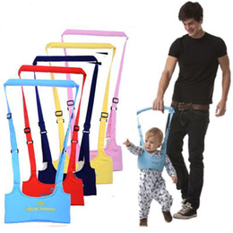 Discount toddler safety belt baby Infant Walking Belt Adjustable Strap Leashes Baby Learning Walking Assistant Toddler Safety Harness Protection Belt 5pcs