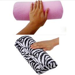 Pro Salon Nail Art Cushion Pillow Zebra Stripe Pink Arm Hand Rest Care Soft Manicure Equipment Tool Half Column