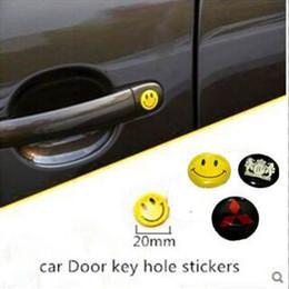 $enCountryForm.capitalKeyWord Canada - 20mm Car door keyhole sticker for Mitsubishi Lancer EVO Montero Outlander Grandis Sport Eclipse