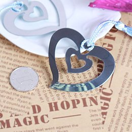 Bookmark Supplies Canada - free shipping DHL 100pcs Best Wedding Gift Bookmarks Favor Stainless Steel Bookmark Wholesale