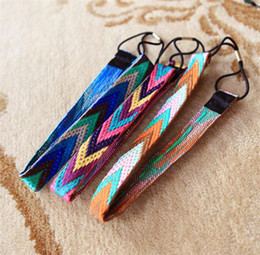 bohemian style headbands wholesale Canada - Bohemian Style Women Headband 2016 Fashion Hand-made Hair Accessories Elastic Hair Band Factory Cost Best Gift MT135