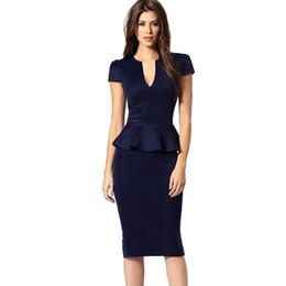 5bdc8997321 2017 лето элегантные женщины бизнес Dress поддельные из двух частей  контраст цвета пэчворк Bodycon оболочка карандаш платья длиной до колен 2018