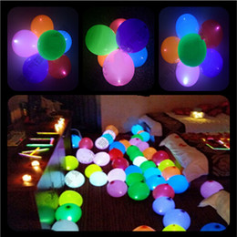 Top Quality 12 Inch LED Colorful Flash Light Up Latex Balloon For Wedding  Christmas Bar Party