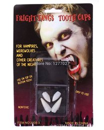 Costumes Dentaires Dentaires Pas Cher-2 paquets (8pcs) dents blanches Vampire Fangs effets spéciaux dentaires Putty Halloween Costume NzHaR