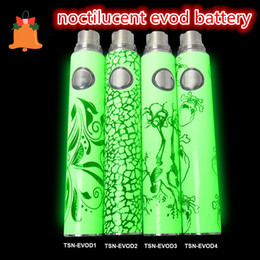 ego battery best quality UK - Best noctilucent battery 650mah 900mah 1100mah TSN Battery for EVO Electronic Cigarette ego e cigarettes Various styles High Quality
