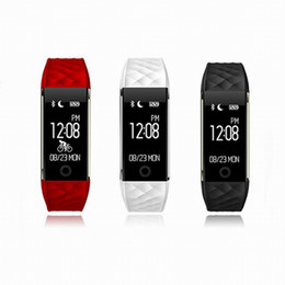 Fitbit red online shopping - Bluetooth Smart Band Heart Rate Monitor Wristband IP67 Waterproof Smartband Fitness Activity Tracker Bracelet PK Fitbit For IOS Andriod