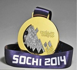 $enCountryForm.capitalKeyWord Canada - 1 pcs The Russia 2014 Sochi winter Olympic games Championship gold medal badge collectible art coin badge with belt