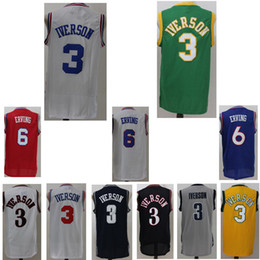 3ffa515d Men's Jersey #6 Julius Erving #3 Allen Iverson Cheap Sale Embroidery Logos  mesh Retro jerseys Free Shipping cheap hockey jersey sale cheap ...