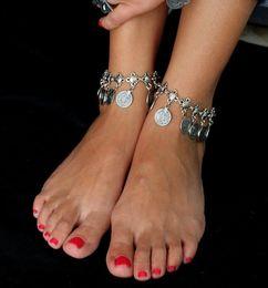 $enCountryForm.capitalKeyWord Canada - 12pcs set Gypsy Antique Silver Turkish Coin Anklet Ankle Bracelet Beach Foot Jewelry Ethnic Tribal Festival