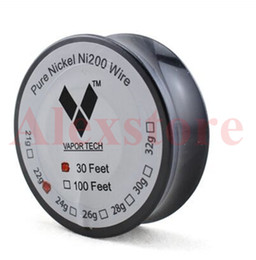 Chinese  Original Pure Nickel Ni200 Wire heating resistance coil wick 30 Feet Spool AWG 22 24 26 28 30 32 Gauge Ecig Nichrome 80 manufacturers