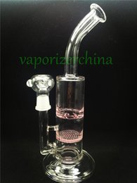 $enCountryForm.capitalKeyWord NZ - Pink honeycomb bongs best quality two function clear bubbler glass ash catcher inline percolator water pipe oil rig bong