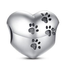 $enCountryForm.capitalKeyWord UK - My Sweet Pet, Paws Prints Silver Charms Genuine 925 Sterling Silver for Pandora Style Bracelets S214