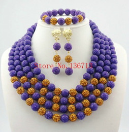 Indian Coral Beads Australia - Latest Nigerian Wedding Jewelry Set Coral Jewelry Set African Coral Beads Jewelry Set Necklace+Earring+Bracelet HD401-6