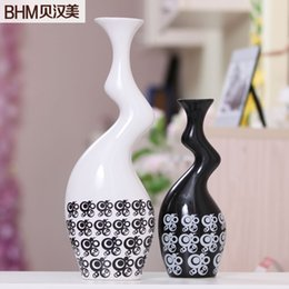 Home Accessories Living Room Decorated Ceramic Vase Ornaments Modern  Minimalist Black And White Minimalist Decorative Ceramic Va