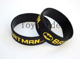 Halloween Silicon Canada - 100PCS, Free Shipping, Printed Batman Logo Wristband, BATMAN Silicon Bracelet, Movie Memorabilia Wristband, Black, Adult