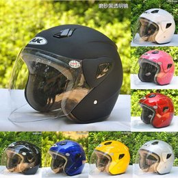 $enCountryForm.capitalKeyWord Canada - 2016 New AK711 half Face Motorcycle Helmet motorbike Electric bicycle helmets made of ABS High Definition Wear lenses for Spring summer