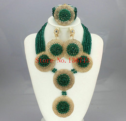 Acrylic Fashion Necklace Set Canada - Fashion African Beads Jewelry Sets 2016 Nigerian Wedding Handmade Acrylic Beads Indian Multilayer Statement Necklace Earrings BC501-2