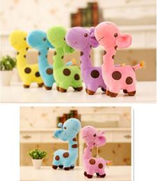 $enCountryForm.capitalKeyWord Canada - 20 pcs lot 2016 NEW 18cm Plush Giraffe Soft Toy Animal Dear Doll Baby Kid Child Birthday Happy Gift 6 Colors for choices