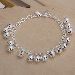 sterling silver hook bracelet NZ - Hot sale best gift 925 silver Jingle bracelets DFMCH056, brand new fashion 925 sterling silver plated Chain link bracelets