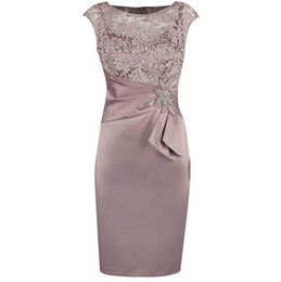 $enCountryForm.capitalKeyWord NZ - Hot Selling Knee Length Tafetta Mother of the Bride Dresses for Wedding In Stock with Lace Sash