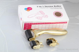 dermaroller face UK - 3 in 1 micro dermaroller With 180 pins  600 pins  1200 pins for eyes , face and body