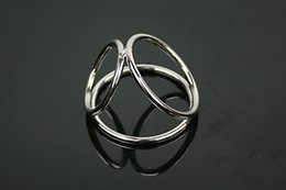 Discount cock rings sale - Men Stainless Steel Dick Ring Penis Delay Ejaculation Cockrings Lock Dildo And Scrotum Adult Male Cocks Sex Toys sex pro