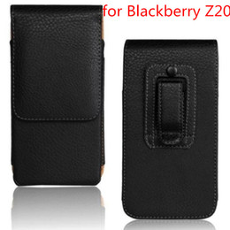 mobile phone fashion pouch UK - Wholeale Fashion PU Leather Case Belt Clip Cover Mobile Phone Pouch Case For BlackBerry Z20 High Quality Free